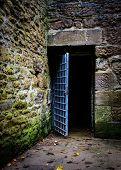Opened prison door