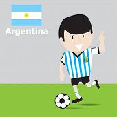 Cute Argentina Soccer Player.