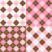 Four Argyle Patterns