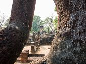 Ancient Buddha At Kamphaengphet Historical Park, Thailand