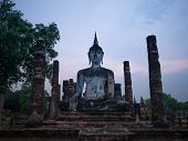 Evening At Wat Mahathat At Sukhothai Historical Park, Sukhothai, Thailand