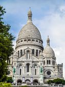PARIS, FRANCE - AUGUST 25 2013: Sacre-Coeur Basilica on Montmartre, Paris, France