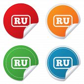Постер, плакат: Russian language sign icon RU translation