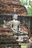 Buddha on ruins