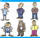 image of grotesque  - Cartoon Illustration Set of Comic Men Characters - JPG