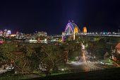 Sydney Harbour Bridge In Colour During Vivid Sydney