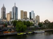 Melbourne yarra river afternoon