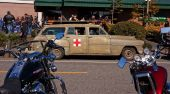 Old Red Cross Ambulance At Oyster Run Event