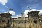 BERLIN, GERMANY - MAY 24, 2014: View of Charlottenburg Palace, is the largest surviving royal palace