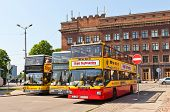 Yellow City Sightseeing Buses In Riga, Latvia