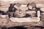 Background Abstract Drawing On Fabric Brown Color