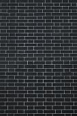 Texture Brick Wall Dark Black And Silvery Color