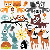 foto of baby spider  - Set of various cute funny vector animals - JPG