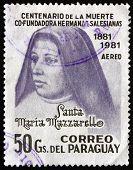 Postage Stamp Paraguay 1981 Mother Maria Mazzarello