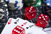 image of dice  - Casino chips - JPG