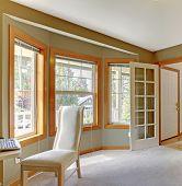 Room Corner With Elegant White Chair