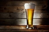 Foam Glass Of Lager Beer