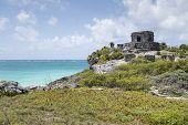 Tulum at Caribbean Sea