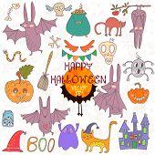 Happy Halloween  Set Of Doodles Cute Halloween Elements