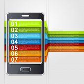 Infographic Smartphone Design Concept.