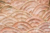 Close-up Pattern Of Grungy Wall Shaped Like Scales Of Fish