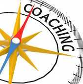 Compass With Coaching Word