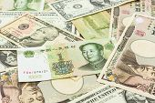 Colorful World Banknotes.