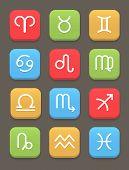 Zodiac icon for web or mobile. Vector