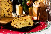 Italian Christmas Cake Called Panettone