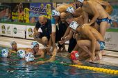 Milan ,Italy,  October 18:  Time Out BPM team ( Italian premiere league Water Polo )