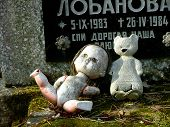 Grave of Russian child