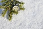 Watch lying in the snow before  new year