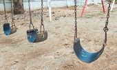 Chain Swing In Children Playground