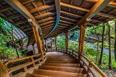 ������, ������: Wooden stair case at Eikando Temple in Kyoto