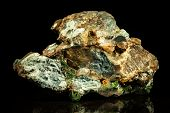 foto of malachite  - Malachit quartz and Cavansite Conglomerate in front of Black - JPG