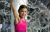 GIRL GETTING DOUSED BY WATER