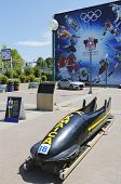 amaican Bobsleigh Team bob used during XV Winter Olympic Games located at Canada Olympic Park