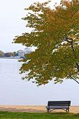 Tidal Basin and Thomas Jefferson Memorial at the morning Washington DC.