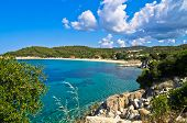 Beachscape of the Aegean sea, Destenika beach, Sithonia