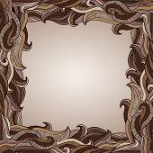 Abstract Chocolate Waves Border