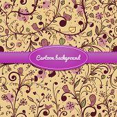 Floral vintage vector seamless pattern