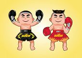 Thai boxer character design