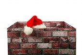 picture of christmas claus  - Santa Claus in a Chimney - JPG