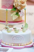 Baby Birthday Cake As Gift For Birth Or Christening Party