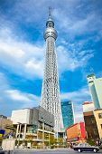 TOKYO, jAPAN-OCTOBER 27, 2014: Tokyo Sky Tree (634m),  the highest free-standing structure in Japan and 2nd in the world with over 10million visitors each year in Tokyo,  Japan.