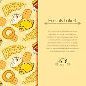 Bakery vector beautiful holiday background