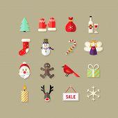 Christmas Flat Icons Set 4