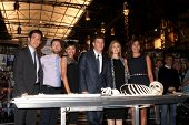 LOS ANGELES - NOV 14:  John Boyd, TJ Thyne, Tamara Taylor, David Boreanaz, Emily Deschanel, Michaela Conlin at the