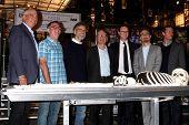 LOS ANGELES - NOV 14:  Rupert Murdock, executives of Bones and FOX at the