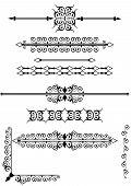 Victorian scrolls or rule lines